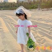 兒童蕾絲連身裙公主裙夏裝寶寶韓版時尚裙子【淘嘟嘟】