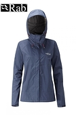 【速捷戶外】英國 RAB QWF-63 Downpour Jacket 女高透氣連帽防水外套(幕藍),登山雨衣,防水外套