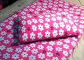 【貝淇小舖】保暖 100 珍珠絨刷毛搖粒【小花朵朵】單人床包2 件組特惠