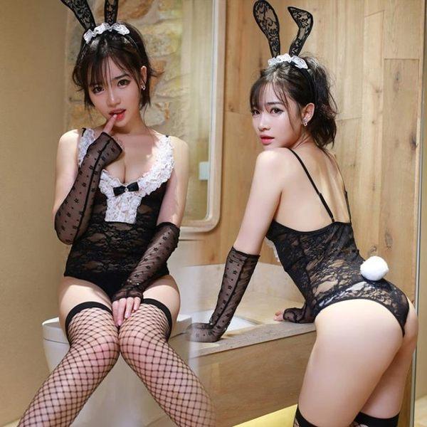 兔女郎制服極度誘惑性感情趣內衣服激情套裝sm透視裝夜火用品免脫