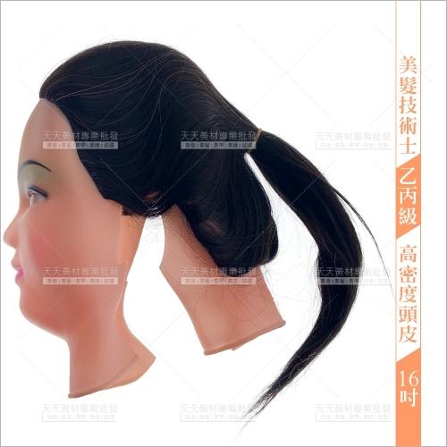 16吋高密度頭皮-不可染燙(美髮技術士乙丙級考試)七股神奇[53678]