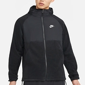 NIKE Sportswear 男裝 外套 連帽 立領 搖粒絨 保暖 抽繩 口袋 黑【運動世界】CU4362-010