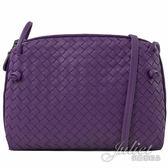 茱麗葉精品【全新現貨】BOTTEGA VENETA 245354 手工編織小羊皮斜背小方包.紫