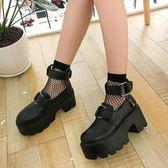 新款熱賣原宿大頭娃娃鞋百搭厚底日系萌妹淺口鞋lolita軟妹鞋  極有家