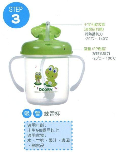 DOOBY 大眼蛙 第三階段吸管練習杯280C.C. (兩色) D-4013