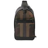 【COACH】黑色皮革斜背包/胸口包(迷彩)F59895 QBMGP