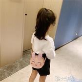 女童斜背包 兒童包包女可愛公主時尚包2019新款小兔女孩洋氣女童包包斜挎包