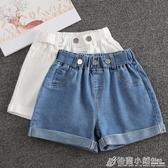 女童短褲夏季白色新款兒童洋氣中大童牛仔褲外穿女孩褲子夏裝 格蘭小舖
