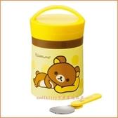 asdfkitty可愛家☆懶懶熊/拉拉熊大口徑真空不鏽鋼保溫杯/可當悶燒罐放嬰兒副食品-日本正版