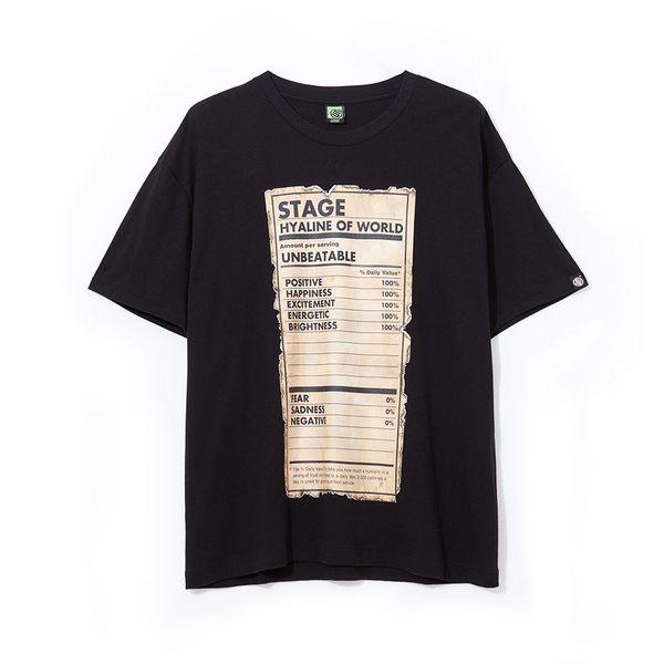 老舊標籤寬版短TEE STAGE OLD LABEL OVERSIZED TEE 黑色