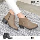 短靴 側扣拉鍊低跟短靴- 山打努SANDARU【107B9358#46】