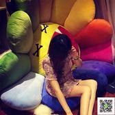 玩偶 太陽花睡覺抱枕可愛娃娃搞怪公仔女孩玩偶超萌韓國毛絨玩具 歐歐流行館