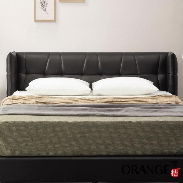 【采桔家居】吉布地 現代6尺皮革雙人加大床頭片(不含床底+不含床墊)