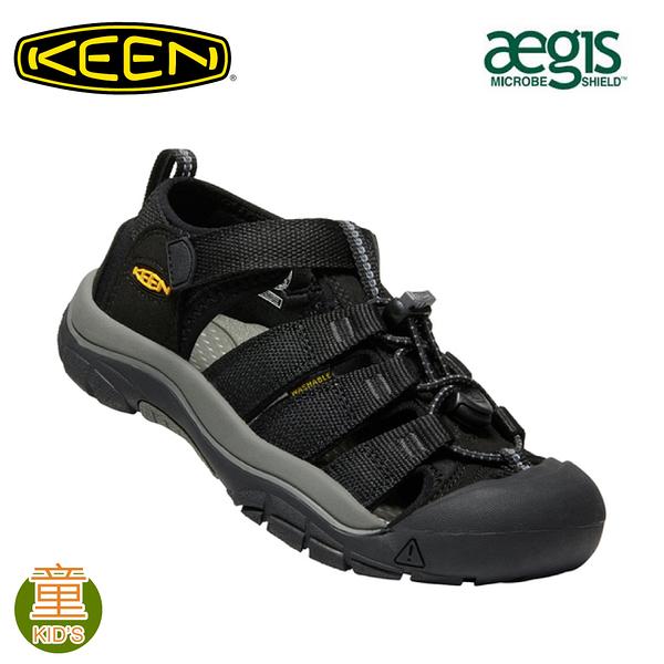 【KEEN 美國 童 NEWPORT H2 護趾涼鞋《黑》】1022838/水陸兩用鞋/戶外休閒鞋/兒童涼鞋