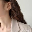 高級感氣質雙c珍珠耳環2020年新款潮法式網紅耳飾小香風大牌耳釘 小艾新品