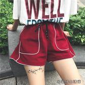 春夏女裝寬鬆百搭休閒褲明線闊腿
