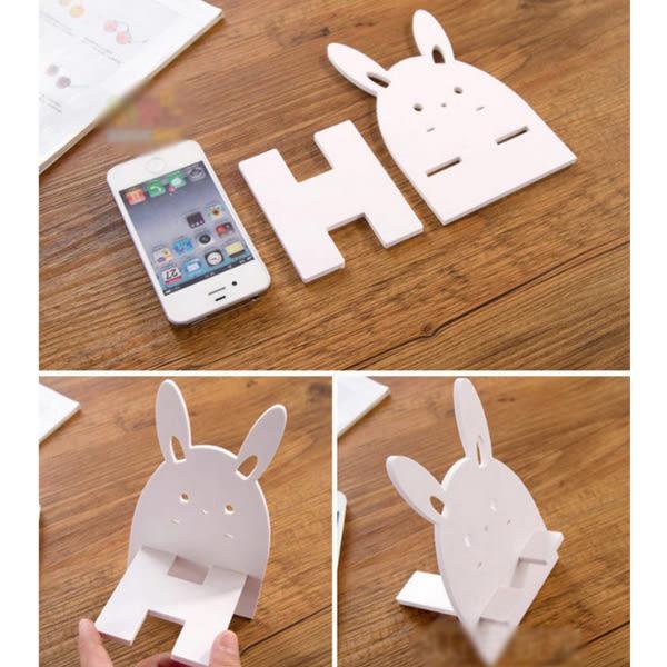 [24H 現貨快出][賠本下殺]創意 手機座 創意 可愛 卡通 兔子 小熊 貓 萌 懶人 手機 支架 diy 桌面
