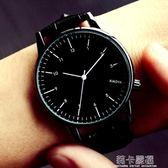 手錶女士學生韓版時尚潮流防水簡約夜光男錶皮帶女錶情侶手錶一對igo 莉卡嚴選