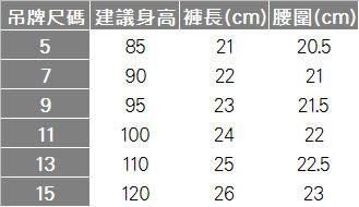 皇冠印花單寧風短褲 RQ POLO 小童春夏款[41549]