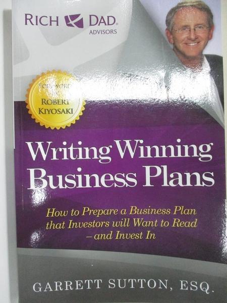 【書寶二手書T1/財經企管_FLJ】Writing Winning Business Plans: How to Prepare a Business..