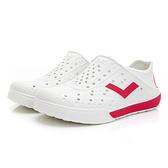 PONY 世界國旗 男女款紅白三色洞洞水鞋-NO.02U1SA04RW
