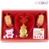 EZGOLD-冠軍寶寶-彌月金飾音樂禮盒 (0.70錢)