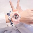 楊紫同款手表ins風獨角獸電子表少女初中學生韓版簡約防水學院風