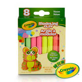 美國Crayola繪兒樂 造型黏土霓虹色4色