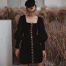 尾牙禮服 黑色小禮服新款女法式生日派對連衣裙宴會年會晚禮服短款顯瘦-快速出貨