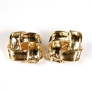 D'ORLAN 金色四方立體環繞夾式耳環(金色)990106