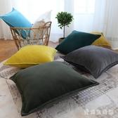 簡約現代加厚短抱枕 靠墊套客廳靠背大號布藝靠枕套辦公室腰枕 QX8021 『愛尚生活館』
