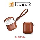 【愛瘋潮】ICARER 復古系列 AirPods 側耳掛繩 手工真皮保護套
