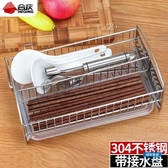 筷子籠304不銹鋼筷子盒家用消毒櫃筷籠廚房瀝水筷子筒收納盒餐具盒
