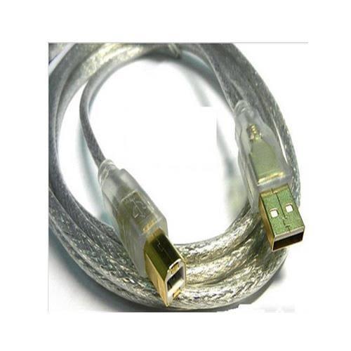 USB2.0 A公-B公鍍金透明強化線 1.8米