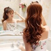 馬尾假髮韓系假髮馬尾女生長捲髮綁帶式中短版假髮尾辮子自然逼真大波浪接髮片