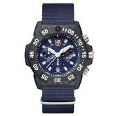 LUMINOX 雷明時NAVY SEAL CHRONO 3580海豹三眼計時腕錶 – 海軍藍x白時標 /45mm A3583ND