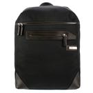 ARMANI COLLEZIONI鐵牌LOGO皮革飾邊後背包(黑色)102306