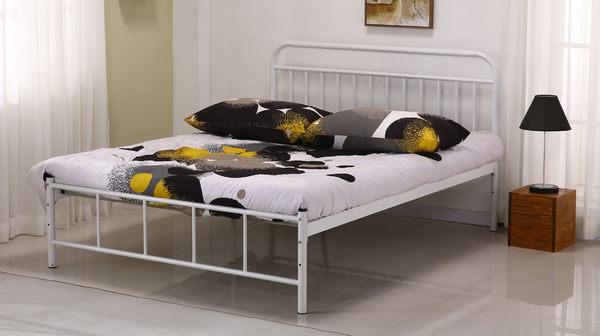 【南洋風休閒傢俱】臥室系列-卡爾鐵管雙人床  現代簡易時尚雙人床 JF101-1
