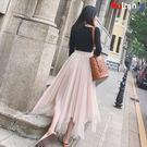 網紗裙 網紗裙 不規則 半身裙 長裙 短裙 中長款 仙女裙