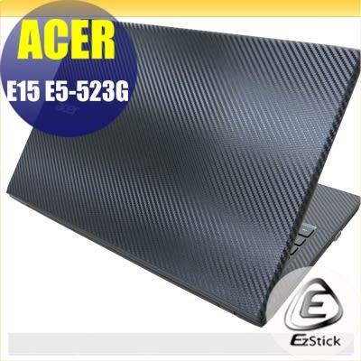 【Ezstick】ACER E5-523 G 專用 Carbon黑色立體紋機身貼 (上蓋貼、鍵盤週圍貼)DIY包膜
