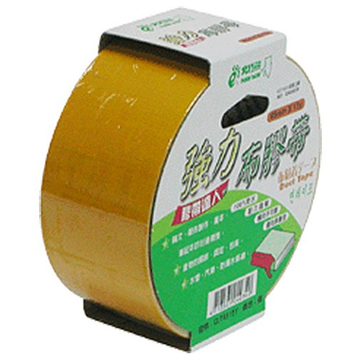 【奇奇文具】北極熊 CLT4815Y黃色布紋膠帶48mm×15yds (6卷)