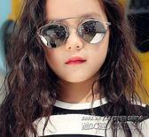 時尚兒童新款金屬框墨鏡女童防紫外線眼鏡女大童個性韓版太陽鏡