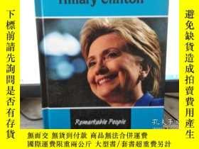 二手書博民逛書店Hillary罕見Clinton by Tom Riddolls and Judy Wearing Remarka