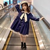 女童洋裝秋裝2020新款網紅女孩學院風長袖洋氣春秋兒童公主裙子 Cocoa