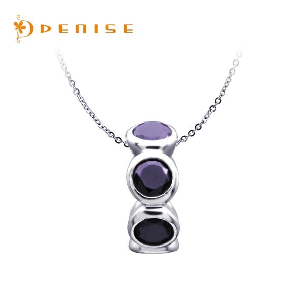 925純銀「紫色迷戀」珠墜 / 贈送白鋼鍊