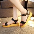[JAR嚴選] 夏日必備  厚底防滑軟皮涼鞋