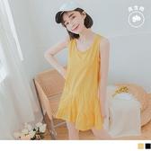 《AB12602》台灣製造.高含棉甜美蛋糕傘襬長版背心/上衣--適 XL~6L OrangeBear