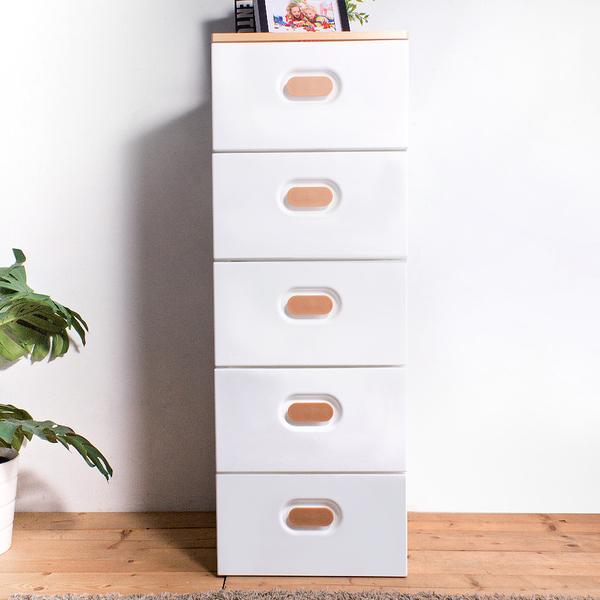 HOUSE【005145-01】木天板-TODAY日系風衣物抽屜式五層收納櫃【台灣製造】-白色