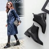 粗跟短靴-歐美經典時尚質感女馬丁靴2款73is15【時尚巴黎】