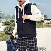 馬甲男秋冬季立領外套羽絨棉衣服男寬鬆短款學生加厚背心坎肩